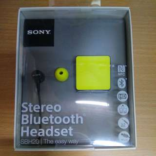 SONY SBH20 stereo bluetooth headset