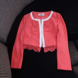 Pink Barbie lace Blazer