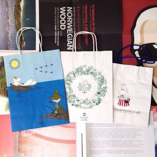 Finland Museum Christmas Ed & London & HK MOOMIN Shop Gift Bag ( EUROPE Limited Edition )