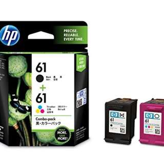 HP 61BK+61CL twins orig ink cartridge 原裝墨盒