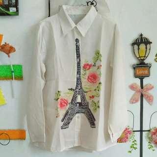 Kemeja Putih Eiffel