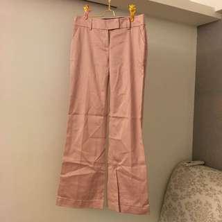 🚚 二手粉色西裝褲 老師 女業務 主管必備