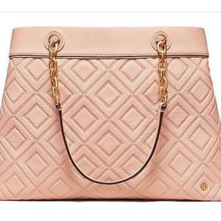 Tory burch triple compartment tote bag