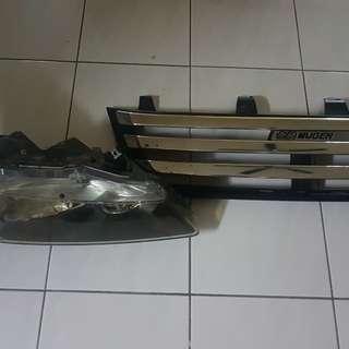Honda stream rn6 hid dan grill mugen