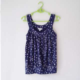 + Cotton On Navy Floral Halter Top