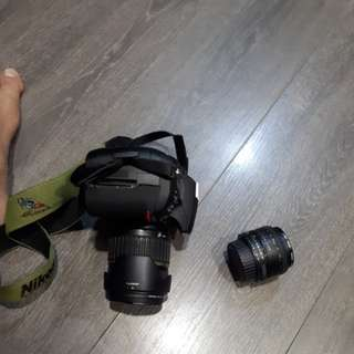 DSLR Camera d300s with 2 lenes