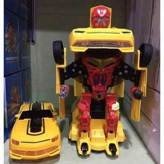 transformer robot bump & go car