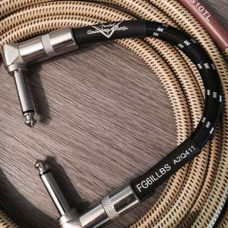 Fender Custom Shop Patch Pedal Guitar Cable New!! Tweed Black!!