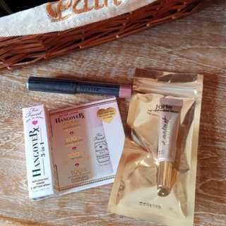 TARTE + TOO FACED + NUDESTIX deluxe sized. Too Faced Hangoverx: Primer and setting spray,
