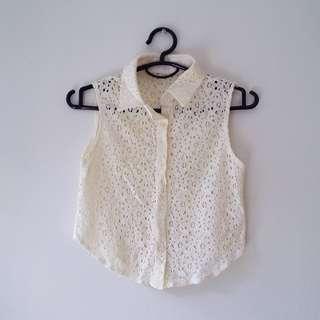 (BN) Cream Lace Top