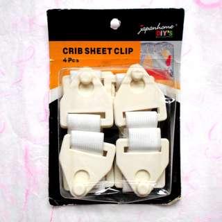 全新 床單扣 Crib Sheet Clip 4 pieces 寢室用品 BB媽咪用品