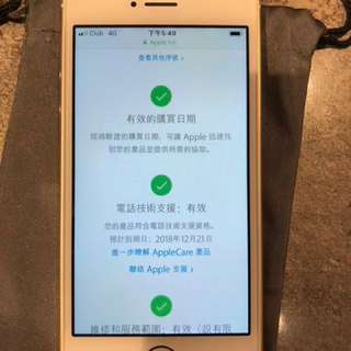 iPhone SE 64GB 港行金色1年 Apple care 保養