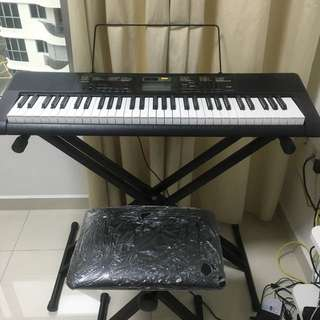 Used Casio CTK 2400 keyboard with bench and stand