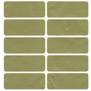 Matt Gold Rectangular (MG-L1) - Customisable Plain Stickers