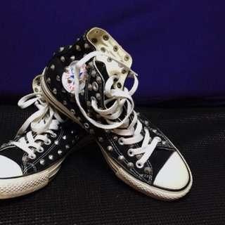 🚚 韓國All STAR卯釘高桶帆布鞋