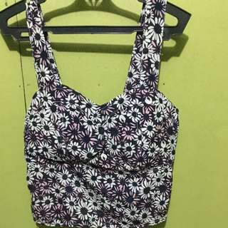 What A Girl Wants Floral  Padded Crop top
