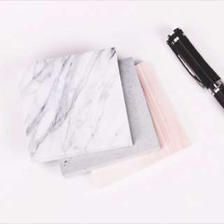 Marble post-its notes