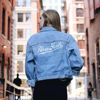 New York Denim Jacket (Brandy Melville)