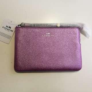 Coach wristlet手提包,小袋,purple粉紫色