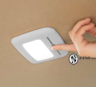 1633495 黏貼式汽車LED吸頂燈 車燈 房燈 (灰色白光)