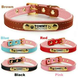 Deep Engraving Gold Name Plate Personalized Pet ID Collar For Small Dog's & Cat's