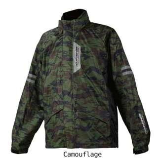 Komine Camo Raincoat Jacket