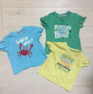 Mothercare 3 pc set short sleeve baby tee
