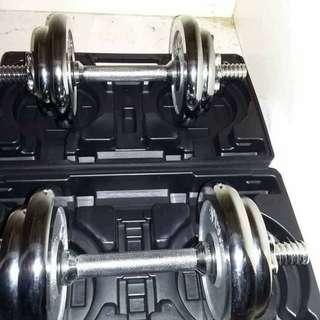 Dumbell Set  20kg (8 plates, 2 bars)