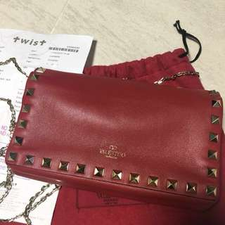100%Real Valentino crossbody chain bag (有單)