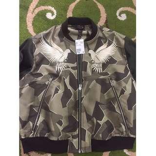 (NEW!!) H&M Jacquard-weave Bomber Jacket