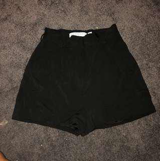 Keepsake the label high waisted black tailored shorts