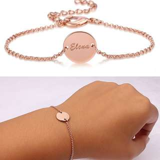 [SALES]👫PERSONALIZED CUSTOMIZATION ENGRAVED LETTERS|NAME|SYMBOL ENGRAVING BRACELET UNISEX|MEN|WOMEN|COUPLE BRACELET ANNIVERSARY MEANINGFUL GIFT👫