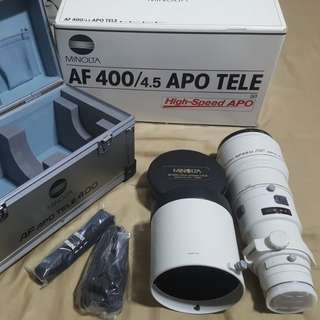 Legendary Konica Minolta Dynax 400mm f4.5 APO TELE Lens for SONY DSLR