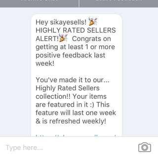 THANK YOU SO MUCH CAROUSELL💞 FIRST TIME HIGHLY RATED SELLER☺️🙊