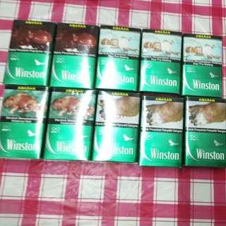 Rokok winston mint 1 katon original satu kotak rm15.50