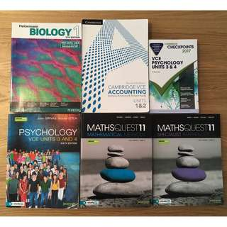 VCE TEXTBOOKS (INDIVIDUAL PRICES LISTED IN THE DESCRIPTION)
