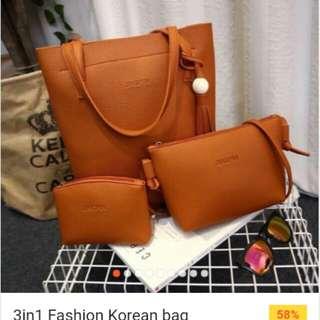 3 in 1 Fashion korean bag