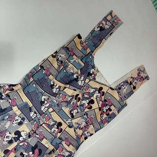 【M Size /九成新】米奇、米妮繃帶傘狀洋裝
