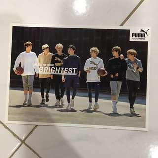 Puma BTS Group Postcard