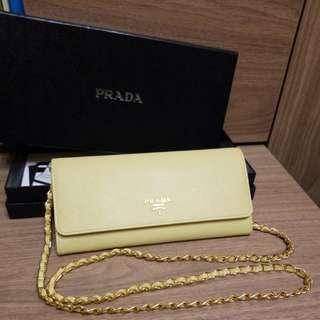 Prada wallet on chain 鏈 斜咩長包