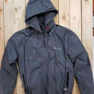 Jaket hoodie parasut Bonca grey