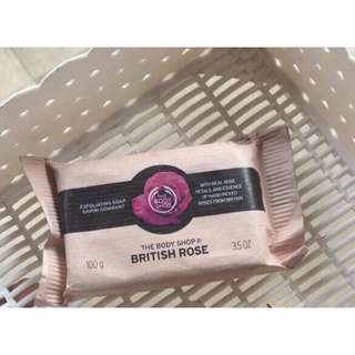 THE BODYSHOP BRITISH ROSE EXFOLIATING