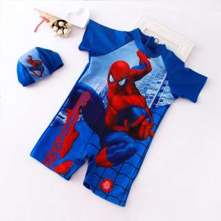 Spiderman Babies Kids Swimsuit Set (9-13kg size)