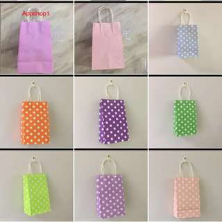 Assorted Colour and printing paper bag- for Christmas party goodies packages, goody bags