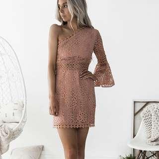 ELYSIAN TOGA Dress (Peach)