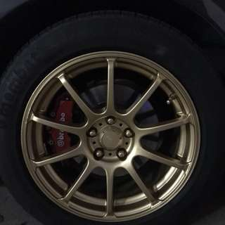 Rims & Calipers spraying!