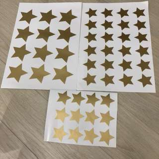 Stars stickers for wall