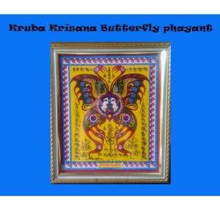 Thai Amulet - Kruba Krisana Wat Weruwan Buttefly Phayant