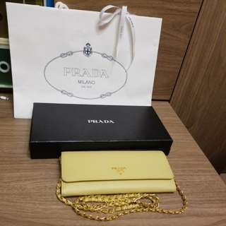 Prada wallet on chain 鏈 斜咩長包