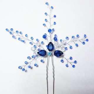 Royal Blue Swarovski Hairpin